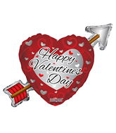 "36"" Happy Valentine&#39s Day Arrow Balloon"