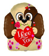 "18"" Love Puppy Shape Foil Balloon"