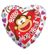 "18"" Mad About You Monkey Foil Balloon"