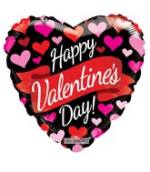 "9"" Happy Valentine's Day Banner & Hearts Non Foil Balloon"