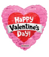 "18"" Valentine&#39s Heart With Banner Foil Balloon"
