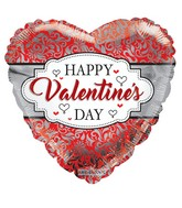 "18"" Happy Valentine&#39s Day Frame Foil Balloon"