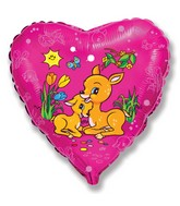 "18"" Gazelles Heart Mylar Balloon"