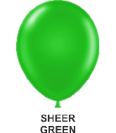 "11"" Sheer Party Style Latex Balloons (100 CT) Green"