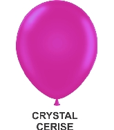 "11"" Sheer Party Style Latex Balloons (100 CT) Cerise"