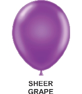 "11"" Sheer Party Style Latex Balloons (100 CT) Grape"