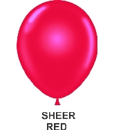 "11"" Sheer Party Style Latex Balloons (100 CT) Red"