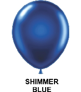 "11"" Metallic Party Style Latex Balloons (100 CT) Blue"