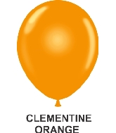 "11"" Sheer Party Style Latex Balloons (100 CT) Clementine"