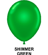 "11"" Metallic Party Style Latex Balloons (100 CT) Green"