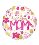 "4.5"" Airfill Only Love You Mom Foil Balloon"