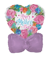 "14"" Airfill Only Happy Mother&#39s Day Watercolor Balloon"