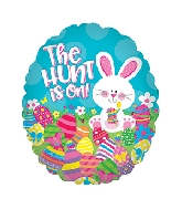 "20"" The Hunt Is On Easter Foil Balloon"