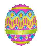 "9"" Airfill Only Bright Easter Egg Foil Balloon"