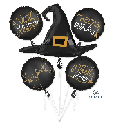 Bouquet Witch Silhouette Foil Balloon