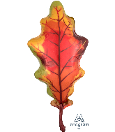 "42"" Jumbo Fall Oak Leaf Foil Balloon"