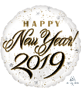 "18"" Happy New Years 2019 Foil Balloon"