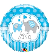 "18"" Es Un Niño - Elephants Foil Balloon"