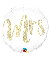 "18"" Mrs Gold Foil Balloon"