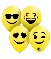 "5"" Smiley Faces Ast Latex Balloons 100 Count"
