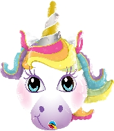 "14"" Unicorn Airfill Only Balloon"