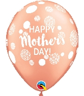 "11"" Happy Mother's Day Dots Latex Balloons 50 Count"