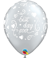 "11"" Best Day Ever Latex Balloons 50 Count"
