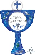 "31"" SuperShape First Communion Day Boy Blue Balloon"