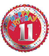 "18"" Children&#39s Milestone ""11"" Happy Birthday Foil Balloon"