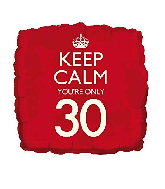 "18"" Keep Calm ""30"" Foil Balloon"