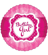 "18""Perfect Pink Birthday Girl Foil Balloon"