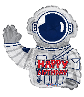 "12"" Airfill Only Birthday Astronaut Shape Foil Balloon"