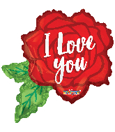 "12"" Airfill Only Love Rose Shape Foil Balloon"