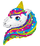 "12"" Airfill Only Unicorn Fairy Shape Foil Balloon"