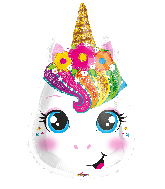 "18"" Unicorn Face Shape Foil Balloon"