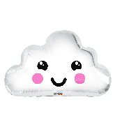 "20"" Smiling Cloud Balloon Gellibean Foil Balloon"