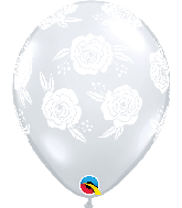 "11"" Roses Diamond Clear (50 Per Bag) Latex Balloons"