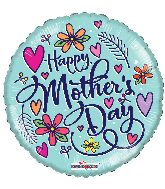 "18"" Happy Mother's Day Hearts Foil Balloon"