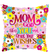 "18"" Mom God Bless You Foil Balloon"