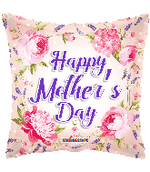 "18"" Happy Mother&#39s Day Classic Flowers Foil Balloon"