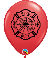"11"" Fire Dept. Red (50 Per Bag) Latex Balloons"