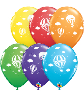 "11"" Hot Air Balloons Bright (50 Per Bag) Latex Balloons"