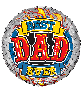 "18"" Best Dad Ever Flames Foil Balloon"