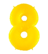 "40"" Foil Shape Balloon Number 8 Fluorescence Yellow"