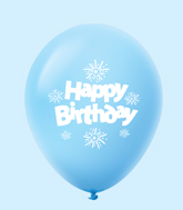 "11"" HB Streamers Latex Balloons Pale Blue (25 Per Bag)"