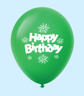"11"" HB Streamers Latex Balloons Green (25 Per Bag)"