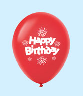 "11"" HB Streamers Latex Balloons Red (25 Per Bag)"