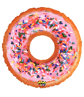 "30"" Mighty Bright® Shape Mighty Donut Foil Balloon"