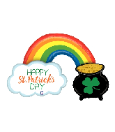 "47"" Foil Shape St. Pat&#39s Pot of Gold Foil Balloon"