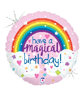 "18"" Holographic Magical Rainbow Birthday Foil Balloon"